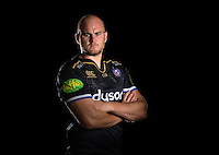 Matt Garvey poses for a portrait in the 2015/16 European kit during a Bath Rugby photocall on September 8, 2015 at Farleigh House in Bath, England. Photo by: Patrick Khachfe / Onside Images