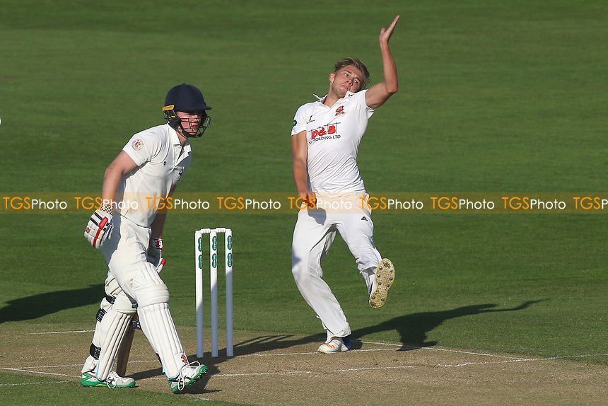 Aaron Beard in bowling action for Essex during Essex CCC vs Durham MCCU, English MCC University Match Cricket at The Cloudfm County Ground on 2nd April 2017