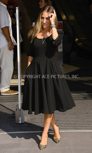 www.acepixs.com<br /> <br /> September 14 2016, London<br /> <br /> Sarah Jessica Parker attends a photocall for the launch of her new fragrance 'Stash' at Boots Piccadilly Circus on September 14, 2016 in London, England. <br /> <br /> <br /> By Line: Famous/ACE Pictures<br /> <br /> <br /> ACE Pictures Inc<br /> Tel: 6467670430<br /> Email: info@acepixs.com<br /> www.acepixs.com