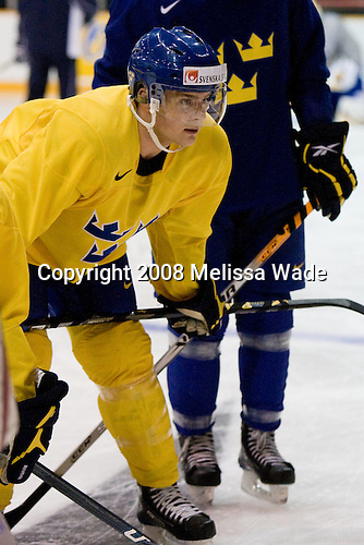 Nichlas Torp (Sweden - 6) - Team Sweden practiced the morning of Monday, December 29, 2008, at the Ottawa Civic Centre Arena in Ottawa, Ontario, during the 2009 World Junior Championship prior to their game against Latvia.