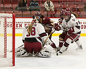 Emerance Maschmeyer (Harvard - 38), Tori Sullivan (BC - 9), Kristyn Capizzano (BC - 7), Natasha Rachlin (Harvard - 7) - The visiting Boston College Eagles defeated the Harvard University Crimson 2-0 on Tuesday, January 19, 2016, at Bright-Landry Hockey Center in Boston, Massachusetts.