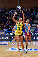Pulse&rsquo; Aliyah Dunn and Steel's Courtney Elliott in action during the ANZ Premiership - Pulse v Steel at Te Rauparaha Arena, Porirua, New Zealand on Wednesday 30 May 2018.<br />