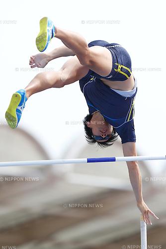 Hiroki Ogita, <br /> MAY 8, 2016 - Athletics : IAAF World Challenge Seiko Golden Grand Prix in Kawasaki <br /> Men's Pole Vault <br /> at Todoroki Stadium, Kanagawa, Japan. <br /> (Photo by Sho Tamura/AFLO SPORT)