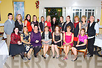 Firies NS staff having fun at their Christmas party in the Dromhall Hotel Killarney on Friday night front row l-r: Kathleen O'Sullivan, Mary Brosnan, Bernadette O'Leary, Eileen Brosnan, Aisling Curran, Irene Nagle, Eilish Kimmage. Back row: Maurice Lynch, Tara Robinson, Fiona Fitzgerald, Tracey O'Leary, Sarah O'Sullivan, Fiona Horan, Helen Barry, Aisling Sayers, Karen Lawlor, Helen Barry, Catherine Mulligan, Bríd O'Shea and Alan Robinson