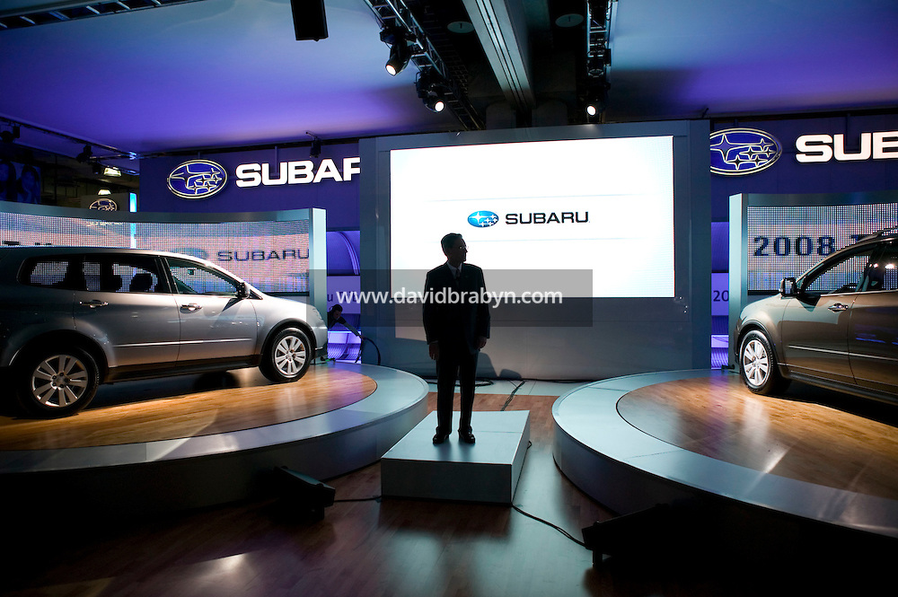 4 April 2007 - New York City, NY - Tom Doll, Executive Vice President of Subaru America, unveils the 2008 Subaru Tribeca on day one of the press preview at the New York International Auto Show in New York City, USA, 4 April 2007.