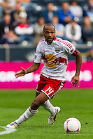 Thierry Henry (14) of the New York Red Bulls. The New York Red Bulls defeated the Philadelphia Union 3-0 during a Major League Soccer (MLS) match at PPL Park in Chester, PA, on October 27, 2012.