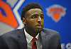 Mitchell Robinson, selected by the New York Knicks in the second round (36th overall) of the 2018 NBA Draft, speaks with the media during his introductory news conference at Madison Square Garden Training Center in Greenburgh, NY on Friday, June 22, 2018.