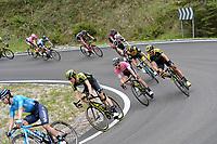 20th May 2018, Giro D italia; stage 15 Tolmezzo to Sappada, Mitchelton - Scott; Simon Yates; Passo Della Mauria;