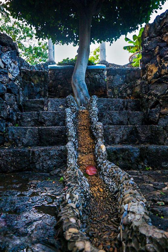 Stairs leading onward, Hostal de la Luz in Tepoztlan, Morelos, Mexico