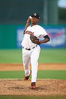 Jupiter Hammerheads relief pitcher Andy Beltre (52) during a game against the Palm Beach Cardinals on August 13, 2016 at Roger Dean Stadium in Jupiter, Florida.  Jupiter defeated Palm Beach 6-2.  (Mike Janes/Four Seam Images)