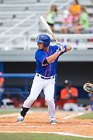 Arnaldo Berrios (13) of the Kingsport Mets at bat against the Greeneville Astros at Hunter Wright Stadium on July 7, 2015 in Kingsport, Tennessee.  The Mets defeated the Astros 6-4. (Brian Westerholt/Four Seam Images)