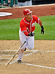 20 May 2012: Washington Nationals shortstop Ian Desmond in action against the Baltimore Orioles at Nationals Park in Washington, DC. The Nationals defeated the Orioles 9-3 to salvage the third game of their 3-game series. Mandatory Credit: Ed Wolfstein Photo