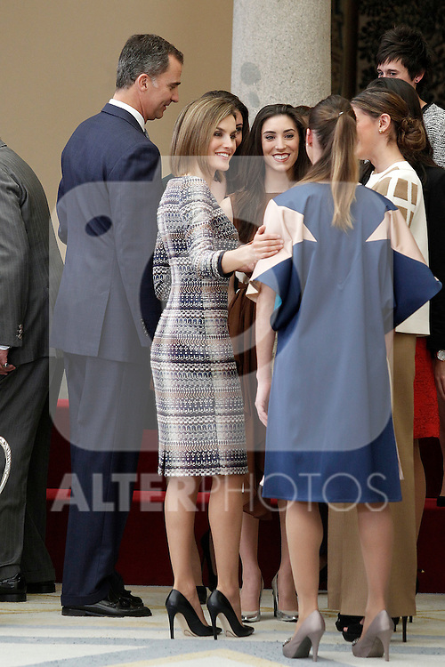 King Felipe VI of Spain and Queen Letizia of Spain during the National Sports Awards 2014. November 17, 2015.(ALTERPHOTOS/Acero)