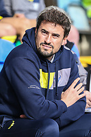Pep Clotet (Manager) of Oxford United during the Sky Bet League 1 match between Peterborough and Oxford United at the ABAX Stadium, London Road, Peterborough, England on 30 September 2017. Photo by David Horn.
