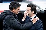 Coach Santiago Solari of Real Madrid and Mauricio Pellegrino of CD Leganes during King's Cup 2018-2019 match between Real Madrid and CD Leganes at Santiago Bernabeu Stadium in Madrid, Spain. January 09, 2019. (ALTERPHOTOS/Borja B.Hojas)