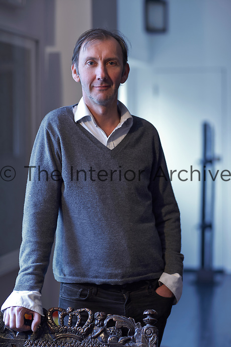 Keith Coventry, Britsh artist and curator in his home