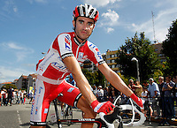 Daniel Moreno before the stage of La Vuelta 2012 between Vilagarcia de Arousa and Mirador de Erazo (Dumbria).August 30,2012. (ALTERPHOTOS/Paola Otero) /NortePhoto.com<br />