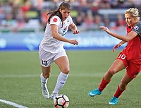 Portland, OR - Wednesday June 28, 2017: Brittany Taylor, Allie Long during a regular season National Women's Soccer League (NWSL) match between the Portland Thorns FC and FC Kansas City at Providence Park.