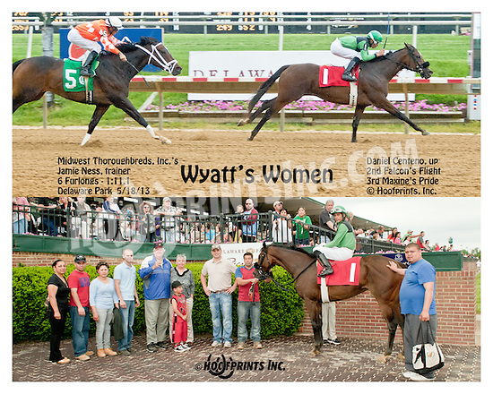 Wyatt's Women winning at Delaware Park on 5/18/13