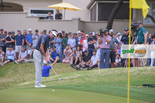 Bubba Watson (USA) watches his putt on 7 during day 5 of the World Golf Championships, Dell Match Play, Austin Country Club, Austin, Texas. 3/25/2018.<br /> Picture: Golffile | Ken Murray<br /> <br /> <br /> All photo usage must carry mandatory copyright credit (© Golffile | Ken Murray)