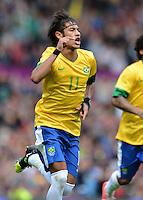 Olympia 2012 London  Fussball  Maenner   29.07.2012 Brasilien - Weissrussland Jubel NEYMAR (Brasilien)