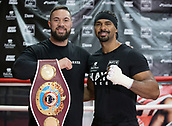 11th September 2017, London, England; Joseph Parker Training Session; Joseph Parker with David Haye during a training session in London ahead of his WBO heavyweight boxing title defence