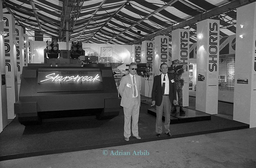 British army Equipment exhibition, Farnborough. 1988