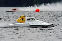 "Scott Thompson, S-41 ""Second Choice"", 2.5 Litre Stock class hydroplane.Syracuse Hydrofest, Onondaga Lake, Syracuse, NY.20/21 June, 2009, Dayton, OH USA..©F. Peirce Williams 2009 USA.F.Peirce Williams.photography.ref: RAW (.NEF) File Available"