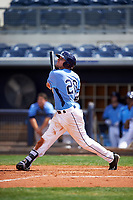Charlotte Stone Crabs left fielder Ryan Boldt (20) at bat during a game against the Lakeland Flying Tigers on April 16, 2017 at Charlotte Sports Park in Port Charlotte, Florida.  Lakeland defeated Charlotte 4-2.  (Mike Janes/Four Seam Images)