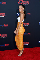 """LOS ANGELES, USA. August 14, 2019: Corinne Foxx at the premiere of """"47 Meters Down: Uncaged"""" at the Regency Village Theatre.<br /> Picture: Paul Smith/Featureflash"""