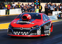 Jul. 25, 2014; Sonoma, CA, USA; NHRA pro stock driver V. Gaines during qualifying for the Sonoma Nationals at Sonoma Raceway. Mandatory Credit: Mark J. Rebilas-