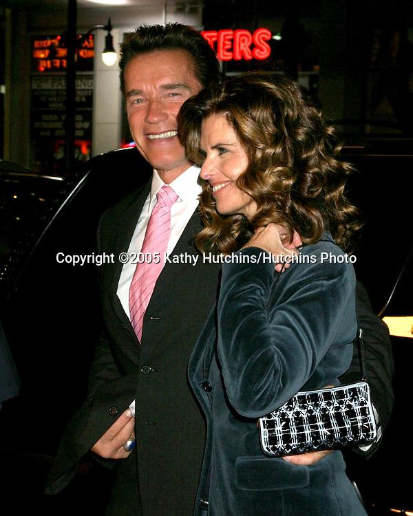 "Arnold Schwarzenegger .Maria Shriver.""Kid & I"" Premiere.Grauman's Chinese Theater.Los Angeles, CA.November 28, 2005.©2005 Kathy Hutchins / Hutchins Photo"
