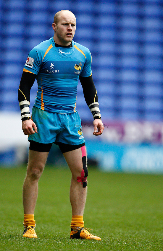 Photo: Richard Lane/Richard Lane Photography. London Irish v London Wasps. Aviva Premiership. 24/02/2013. Wasps' Joe Simpson.