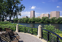 Hartford, Connecticut.Looking across the Connecticut River to the skyline of downtown Hartford, the Capitol of Connecticut