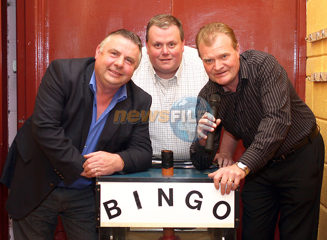 Eugene Lane, Seamus McShane and Jeremy Jachimiak at the Launch of the Monster Bingo in Dunleer...Photo NEWSFILE/Jenny Matthews.(Photo credit should read Jenny Matthews/NEWSFILE)....This Picture has been sent you under the condtions enclosed by:.Newsfile Ltd..The Studio,.Millmount Abbey,.Drogheda,.Co Meath..Ireland..Tel: +353(0)41-9871240.Fax: +353(0)41-9871260.GSM: +353(0)86-2500958.email: pictures@newsfile.ie.www.newsfile.ie.FTP: 193.120.102.198.