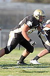 Palos Verdes, CA 10/02/09 - The Vista Murietta Broncos visited the Peninsula Panthers in a non-league contest, won 43-21 by Vista Murietta.  In action are Mitch Olsen (#63)