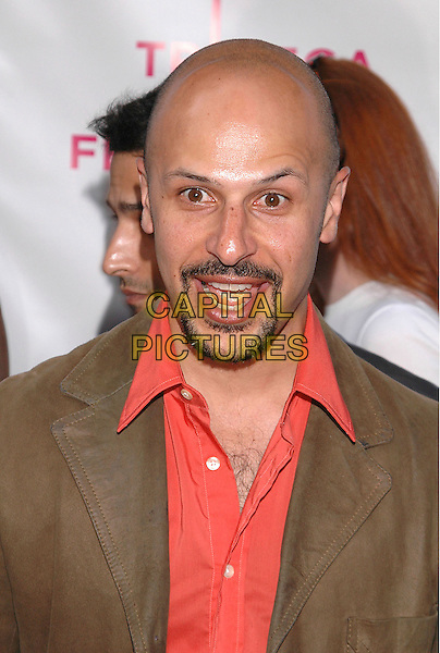 AMAZ JOBRANI.The premiere of  'The Interpreter', part of the Tribeca Film Festival in New York City, New York.April 19th, 2005.headshot portrait goatee facial hair mouth open bald.www.capitalpictures.com.sales@capitalpictures.com.©Patti Ouderkirk/AdMedia/Capital Pictures.
