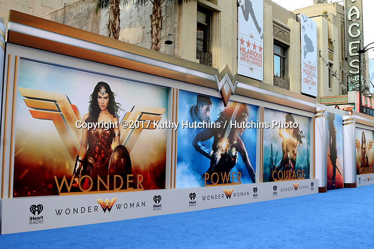"LOS ANGELES - MAY 25:  Wonder Woman Atmosphere at the ""Wonder Woman"" Los Angeles Premiere at the Pantages Theater on May 25, 2017 in Los Angeles, CA"