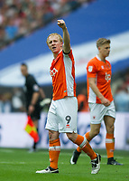 Blackpool's Mark Cullen after scoring during the Sky Bet League 2 PLAY OFF FINAL match between Exeter City and Blackpool at Wembley Stadium, London, England on 28 May 2017. Photo by Andrew Aleksiejczuk.