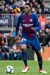 Yerry Fernando Mina Gonzalez of FC Barcelona in action during the La Liga 2017-18 match between FC Barcelona and Getafe FC at Camp Nou on 11 February 2018 in Barcelona, Spain. Photo by Vicens Gimenez / Power Sport Images