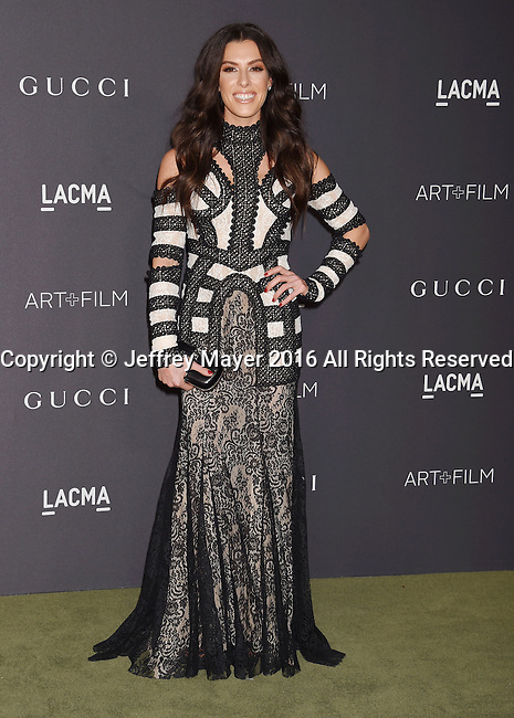 LOS ANGELES, CA - OCTOBER 29: Actress Monique Zordan attends the 2016 LACMA Art + Film Gala honoring Robert Irwin and Kathryn Bigelow presented by Gucci at LACMA on October 29, 2016 in Los Angeles, California.