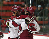 The Harvard University Crimson defeated the visiting Bentley University Falcons 5-1 on Friday, November 21, 2014, at Bright-Landry Hockey Center in Cambridge, Massachusetts.