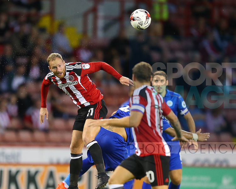 Matt Done of Sheffield Utd during the Checkatrade Trophy match at Bramall Lane Stadium, Sheffield. Picture date: August 30th, 2016. Pic Simon Bellis/Sportimage
