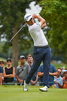 Patrick Cantlay (USA) watches his tee shot on 4 during Rd3 of the 2019 BMW Championship, Medinah Golf Club, Chicago, Illinois, USA. 8/17/2019.<br /> Picture Ken Murray / Golffile.ie<br /> <br /> All photo usage must carry mandatory copyright credit (© Golffile   Ken Murray)