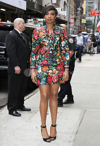 NEW YORK, NY - APRIL 17: Jennifer Hudson at Good Morning America to talk about new series Sandy Wexler in New York City on April 17, 2017. Credit: RW/MediaPunch