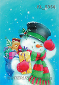 Interlitho, Hazel, CHRISTMAS SANTA, SNOWMAN, paintings, snowman, teddy, bag(KL5364,#X#)