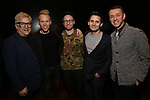 Ken Fallin, Justin Paul, Matt Gould, Benj Pasek and Andrew Lippa attend The Dramatists Guild Foundation Salon with Matt Gould on March 12, 2018 at StellarTower in New York City.