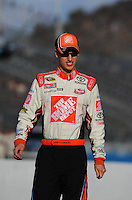 Nov. 13, 2009; Avondale, AZ, USA; NASCAR Sprint Cup Series driver Joey Logano during qualifying for the Checker O'Reilly Auto Parts 500 at Phoenix International Raceway. Mandatory Credit: Mark J. Rebilas-