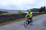 Teresa O'Sullivan from Sneem pictured arriving at the half way break at Kilmackillogue Harbour in County Kerry whilst taking part in the annual Sneem Cycle, &ldquo;Wild Atlantic Challenge Charity Cycle&rdquo; in aid of Breakthrough Cancer Research at the weekend.<br /> Photo Don MacMonagle<br /> <br /> repro free photo<br /> Further info: Ann O'Sullivan ann@breakthroughcancerresearch.ie