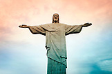 BRAZIL, Rio de Janiero, an up close view of Cristo Redentor (statue)